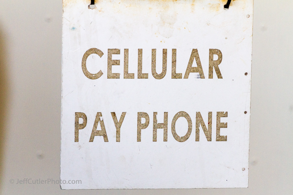 Onboard the ship they have a cellular payphone - or that's what the sign says!