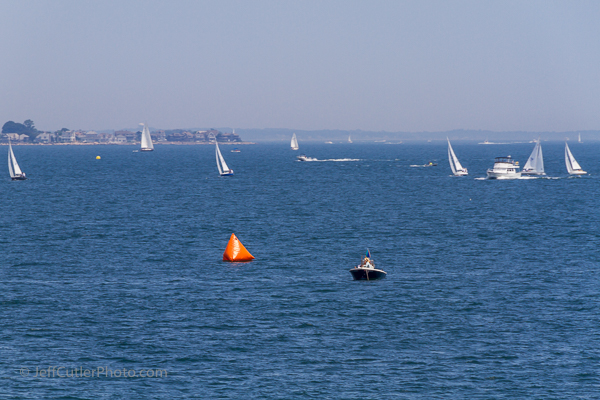 Busy harbor - Long Island Sound on a Saturday in the Summer.