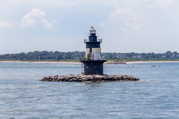 Orient Point Lighthouse - a spark-plug light.