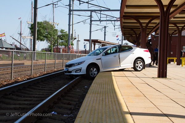 After our tour, we saw this car trying to jump on the Acela at the nearby Amtrak station. Lots of excitement that day!