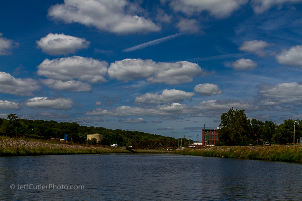 View from the Blackstone River - The Explorer riverboat