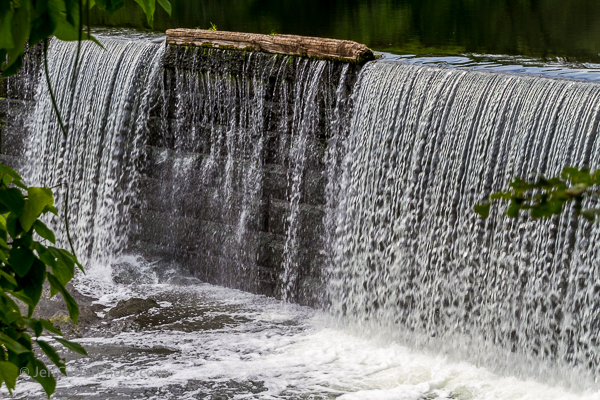 Waterfall photo at the Manville Dam