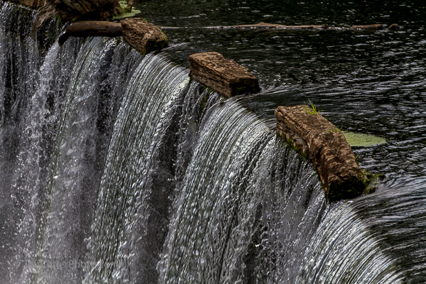 Waterfall at the Manville Dam