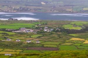 The greenery of the Irish coast.